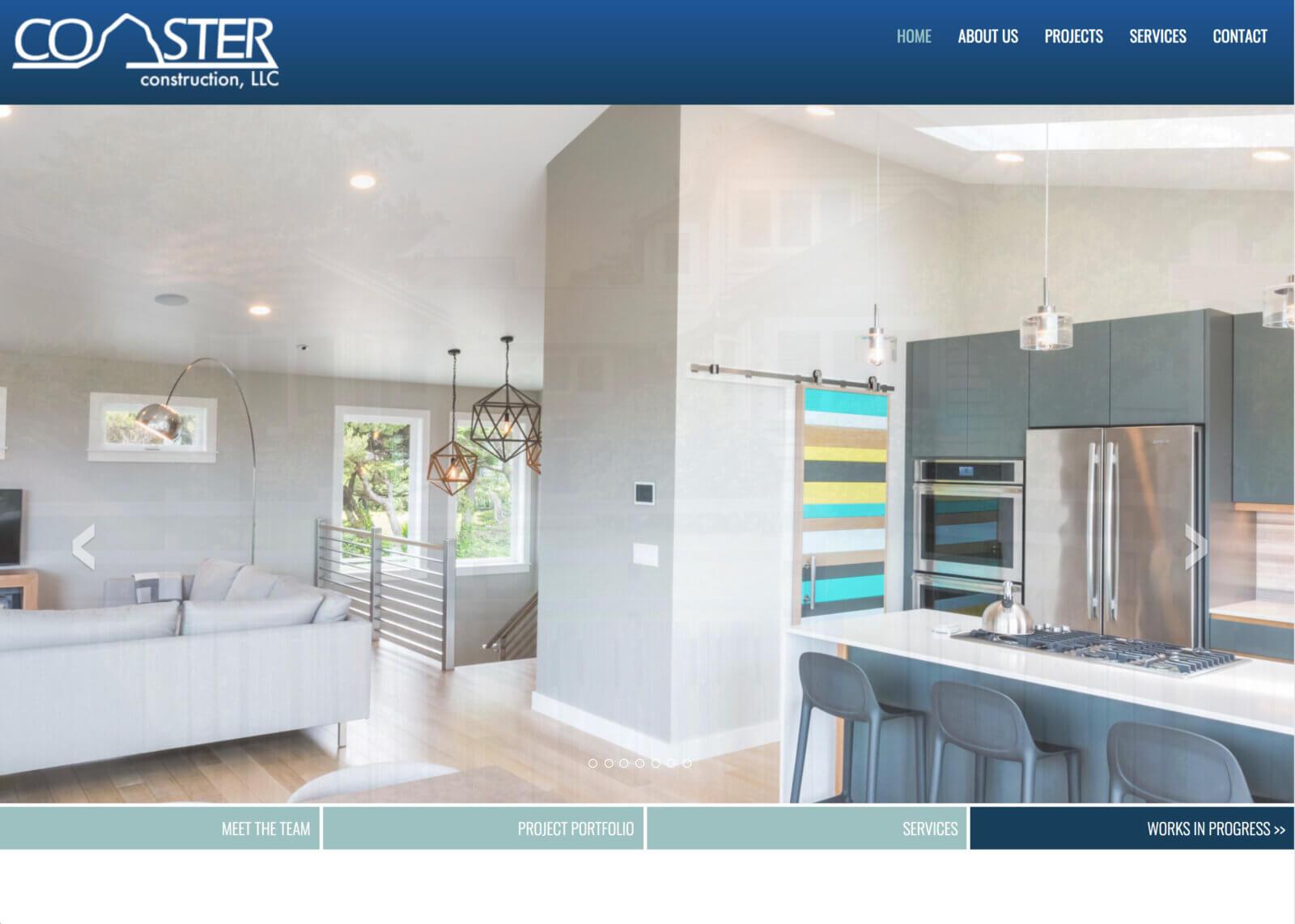Coaster construction website