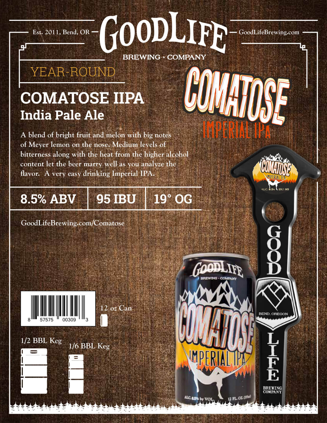 Comatose beer poster design by Crowerks