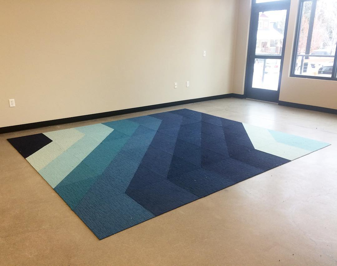 Bippity Boppity Blue! Our new studio space with only the Flor moved in