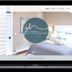 We created the website for interior designer JD Designs