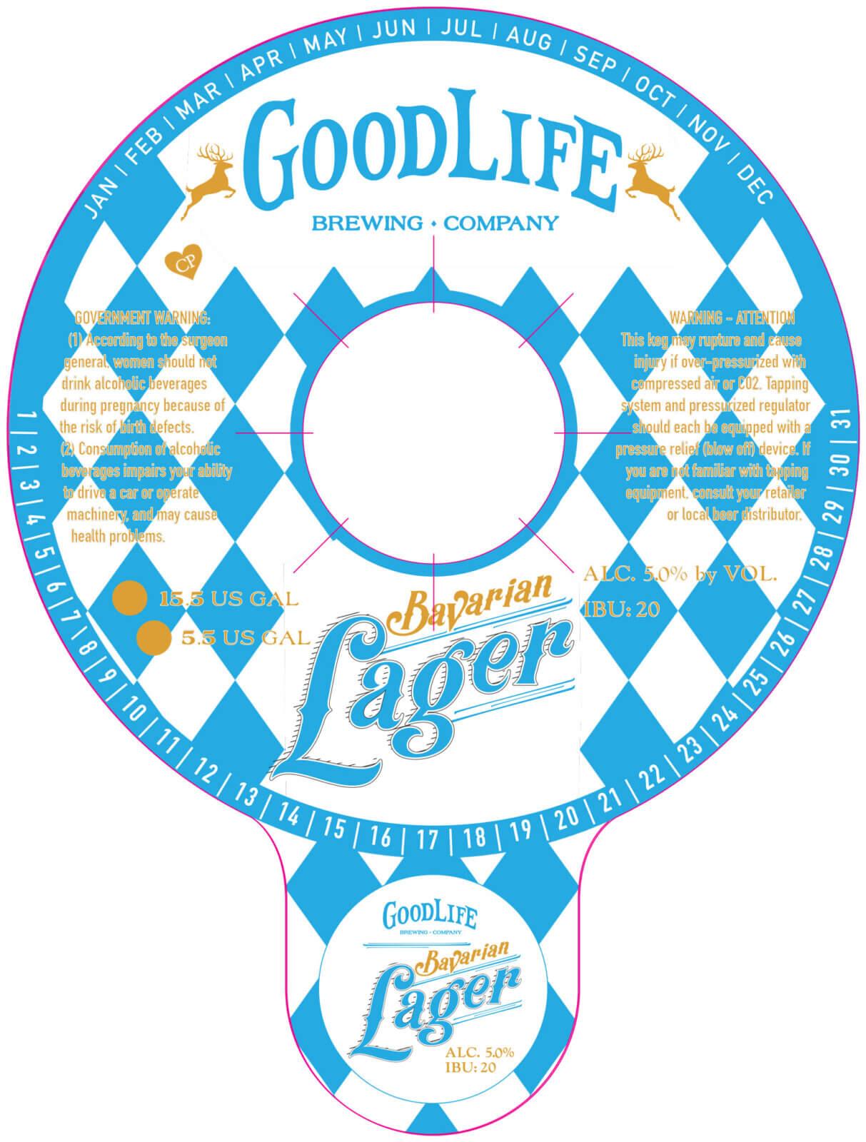 Bavarian lager keg collar