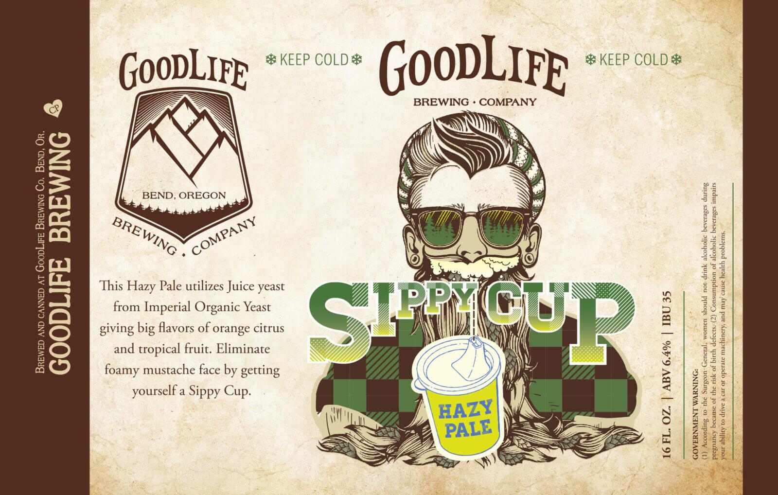 Sippy cup haze pale ale design