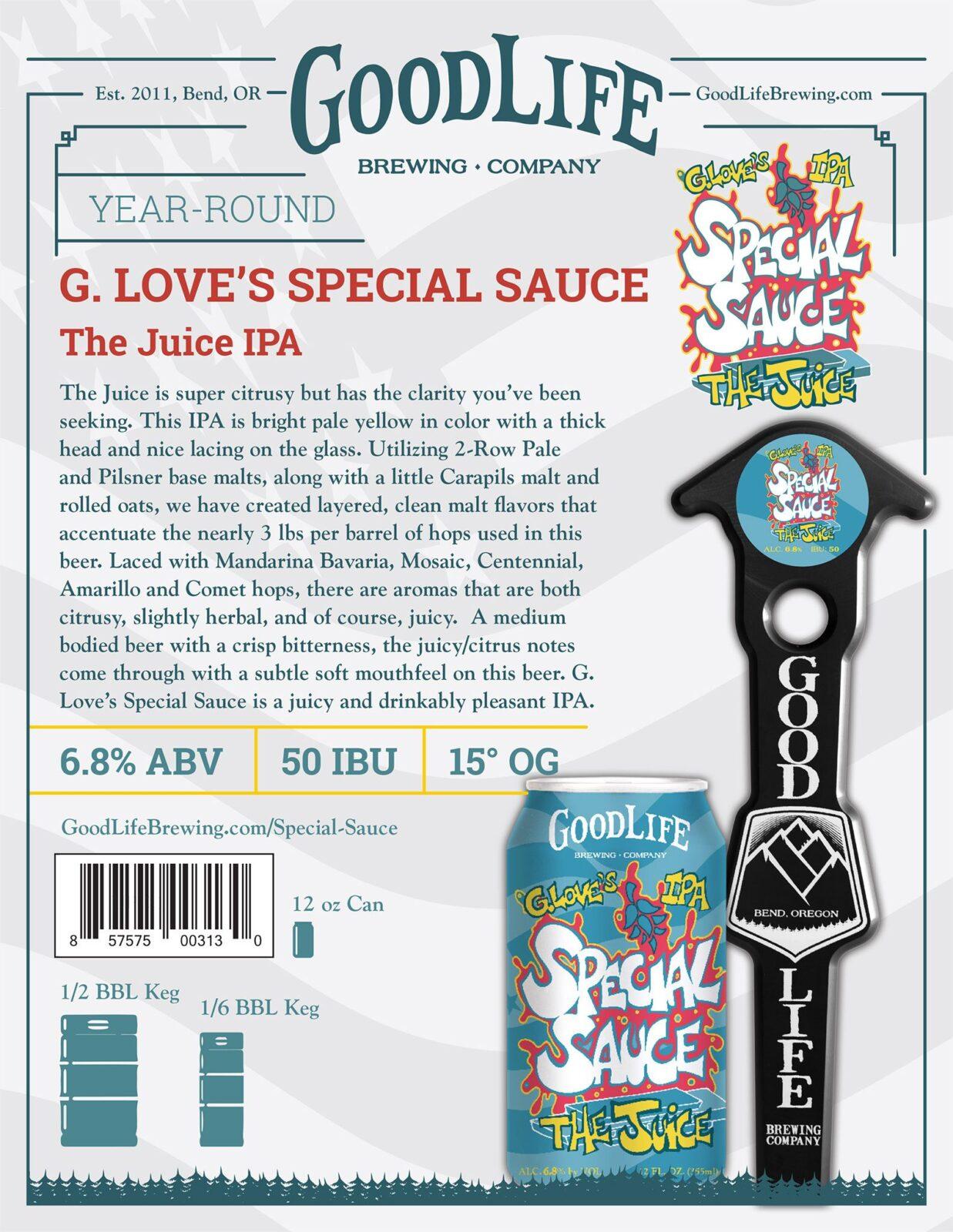 G. Love's Special Sauce beer