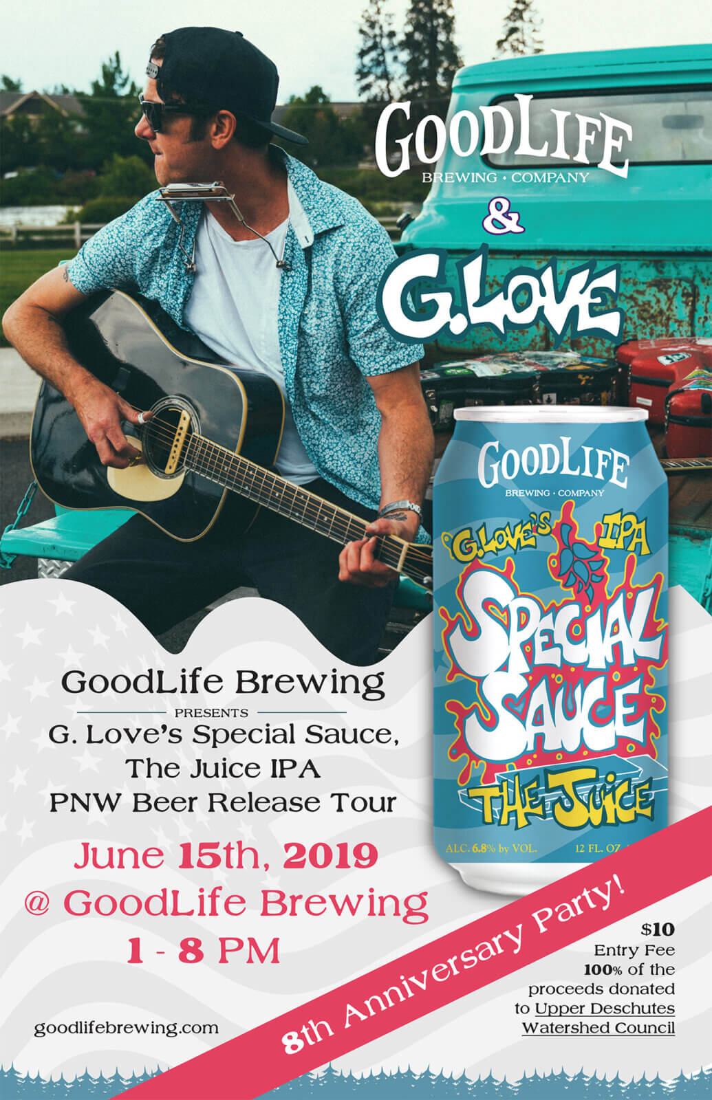 G.Love party poster
