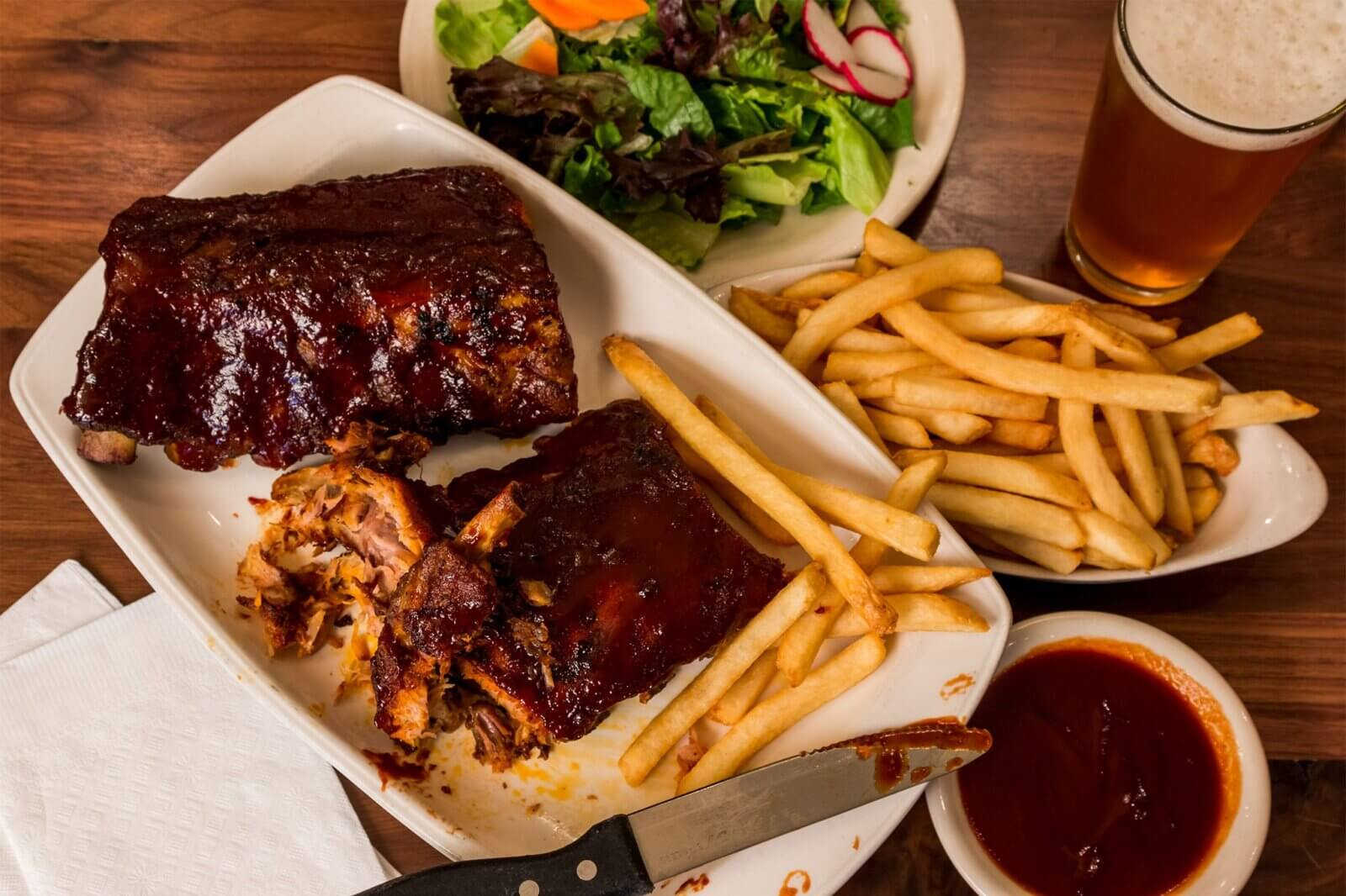 Image of ribs and fries