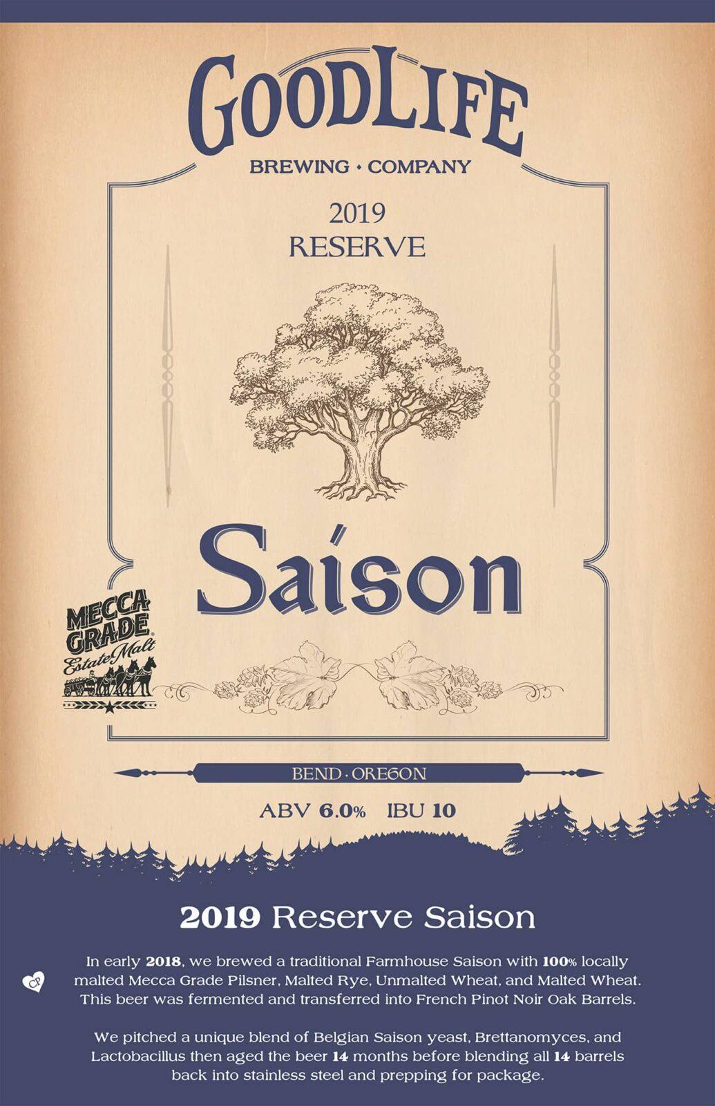 Goodlife 2019 Reserve Saison Poster