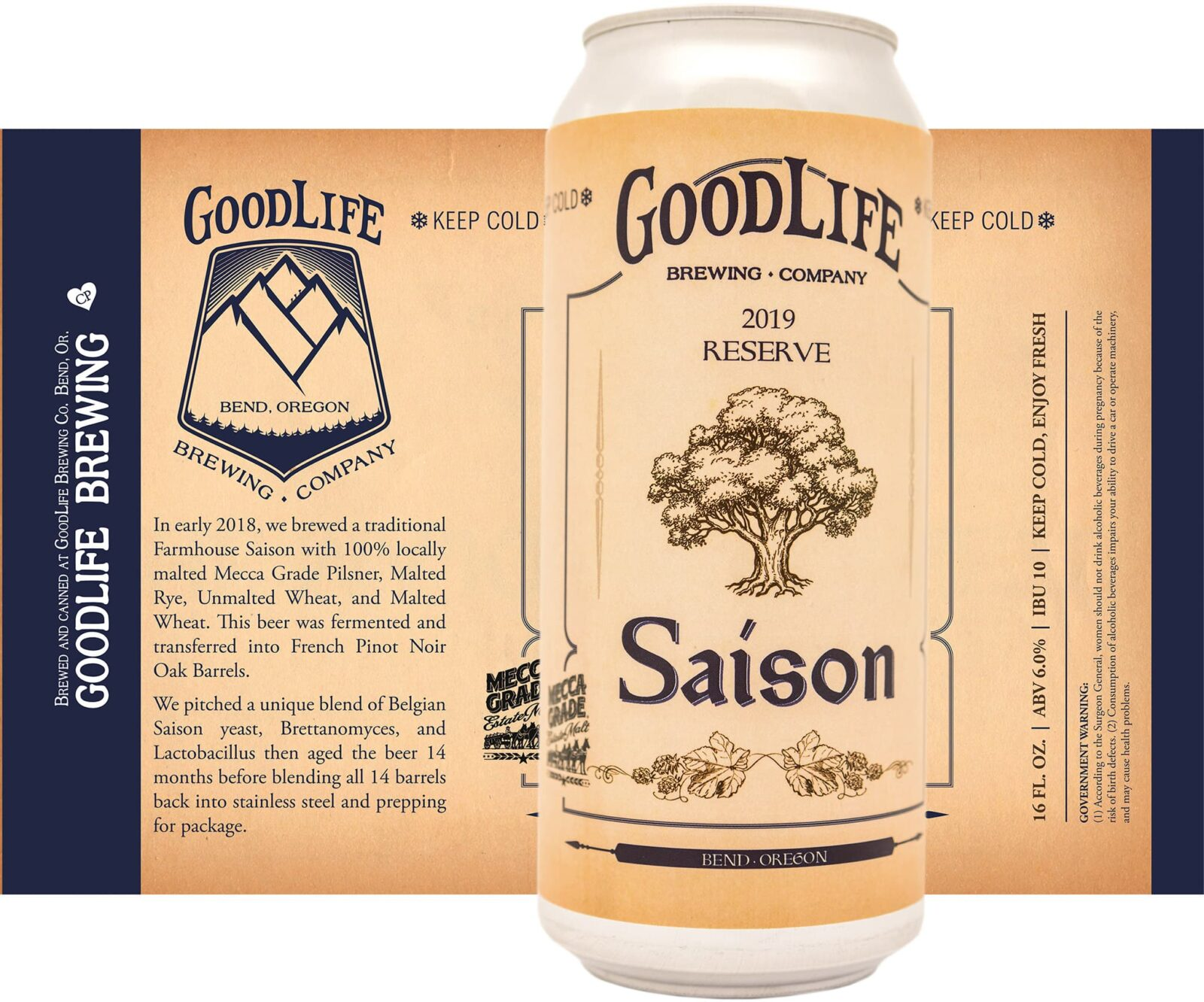 crowerks designed the artwork for GoodLife 2019 Reserve Saison