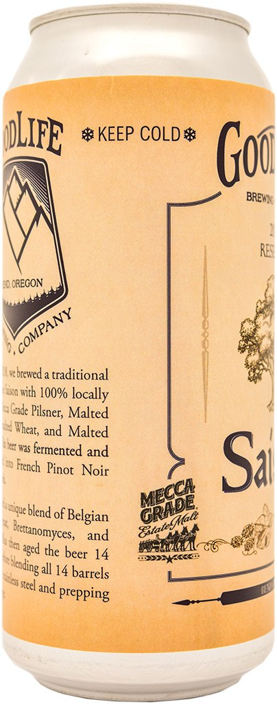 Saison can side view