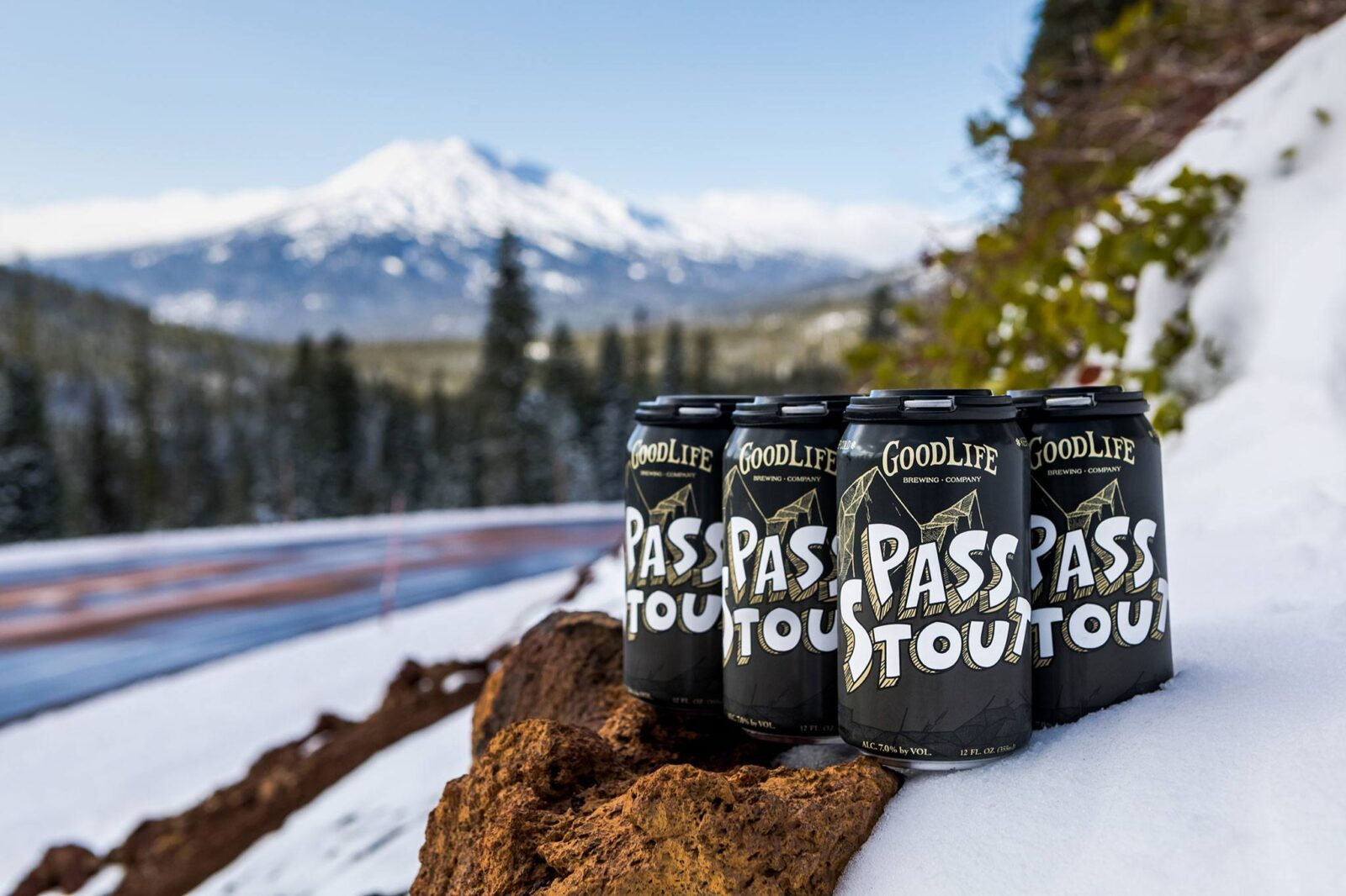 Pass Stout beer in the mountains