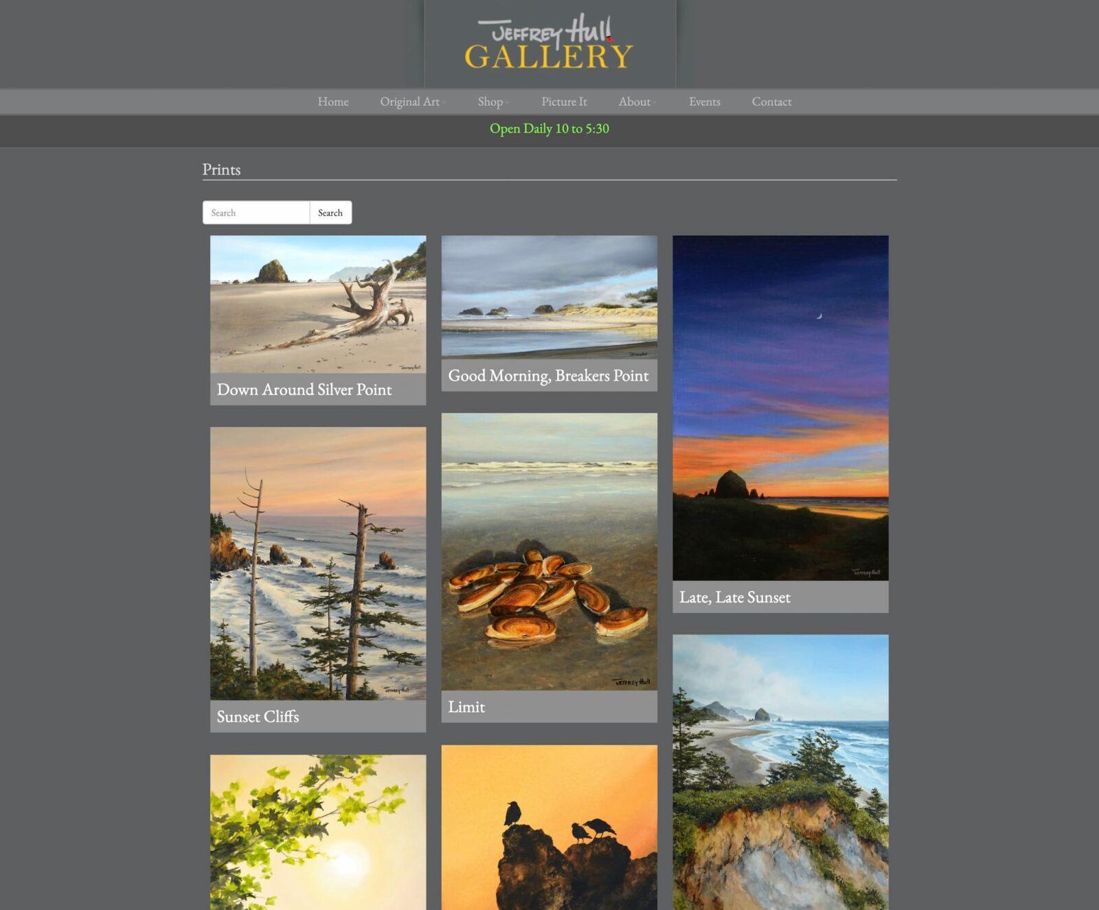 Jeffery Hull Gallery prints